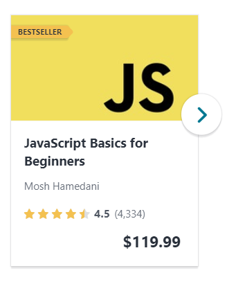 Best Udemy javascript course