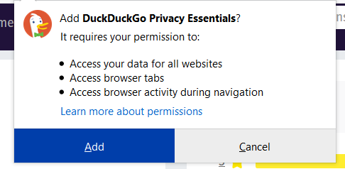 How to make DuckDuckGo default search engine in firefox