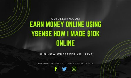 Earn Money Online Using ySense How I made $10k Online